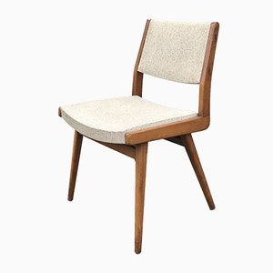 Beech Dining Chairs by Robert Debiève for Minvielle, 1950s, Set of 2