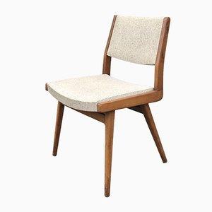 Buchenholz Esszimmerstühle von Robert Debiève für Minvielle, 1950er, 2er Set