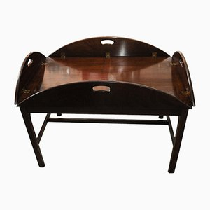 19th Century Mahogany Butlers Tables with Removable Trays, Set of 2