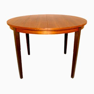 Dining Table in Walnut and Beech, Sweden, 1960s