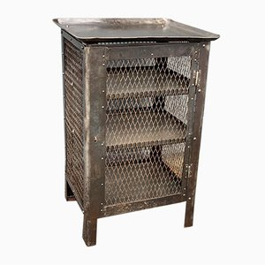 Storage Cabinet with Wire Netting, 1920s