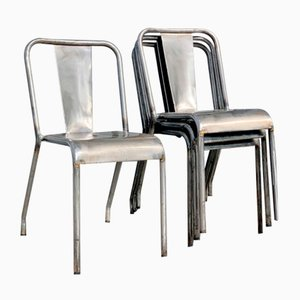 T37 Dining Chairs from Tolix, 1950s, Set of 4