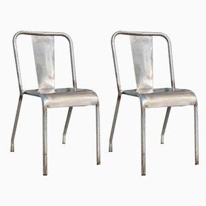 T37 Dining Chairs from Tolix, 1950s, Set of 2