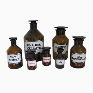 Deutsche Vintage Apotheken Flaschen von Schott, 1970er, 7er Set