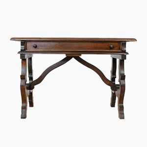 Massiver Vintage Schreibtisch aus Mahagoni