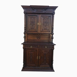 Carved Oak Cabinet, 1920s