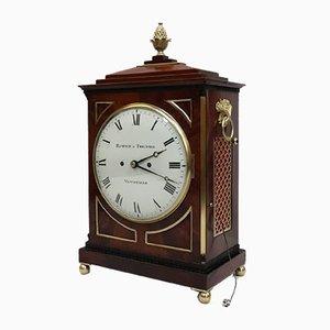 George III English Mahogany Bracket Clock from Hampson & Thelwell, 1810s