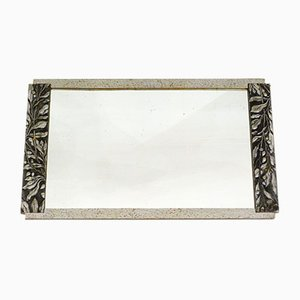 Art Deco Silver Wall Mirror