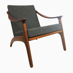 Danish Teak and Oak Lounge Chair by Arne Hovmand-Olsen, 1960s