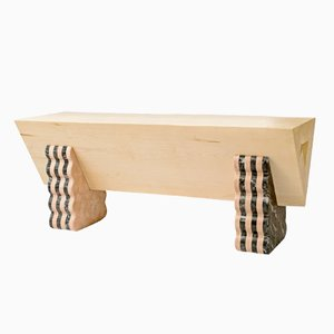 Allsorts Bench by Lucia Massari for Mandruzzato Marmi e Graniti