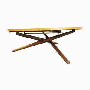 Mid-Century Height Adjustable Dining or Coffee Table by Jürg Bally for Wohnhilfe