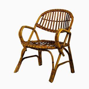 Französische Bambus Sessel, 1960er