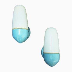 Mid-Century Modell 6067 Keramik Wandlampen von Wilhelm Wagenfeld für Lindner, 2er Set