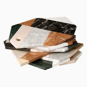Italian Scrap Marble Serving Tray by Lucia Massari for Mandruzzato Marmi e Graniti