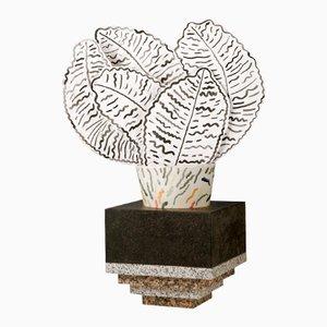 Portavaso e vaso Inka di Lucia Massari per Mandruzzato Marmi e Graniti