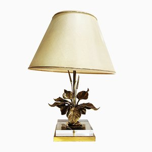 Vintage Flower Table Lamp, 1970s