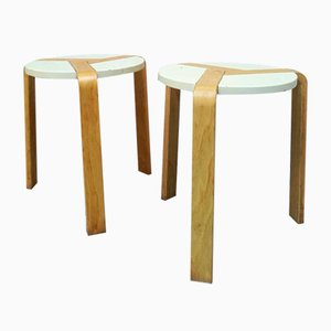 Italian Birch Stools by Simonit e Del Piero for Olivo Srlby, 1970s, Set of 2