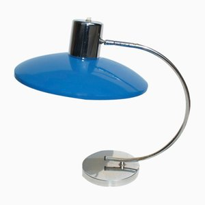 Italian Blue Table Lamp, 1960s