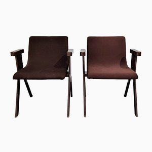 Mid-Century Armchairs by Ettore Sottsass for Olivetti Synthesis, 1970s, Set of 2