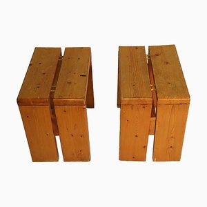 Stools by Charlotte Perriand for Les Arcs, 1960s, Set of 2