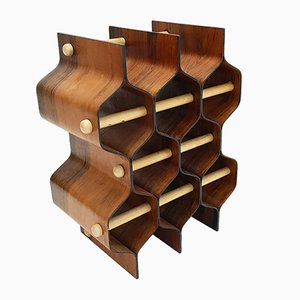 Rosewood Wine Rack by Torsten Johansson for AB Formträ, 1960s