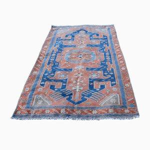 Blauer Kaukasischer Vintage Teppich, 1970er