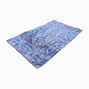 Türkischer Vintage Teppich in Blau, 1970er