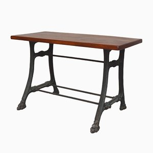 19th Century Worktable with Cast Iron Legs and Iron Clawfoot