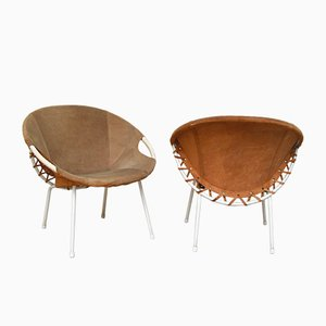 Circle Lounge Chairs by Erzeugnis, Germany, 1960s, Set of 2