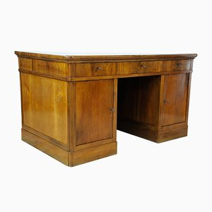Vintage Blond Walnut Desk