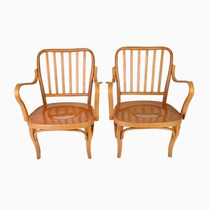 Vintage No. 752 Armchairs by Josef Frank for TON, 1940s, Set of 2