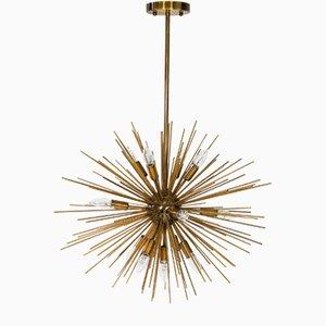 Regency Brass Urchin Sputnik Kronleuchter