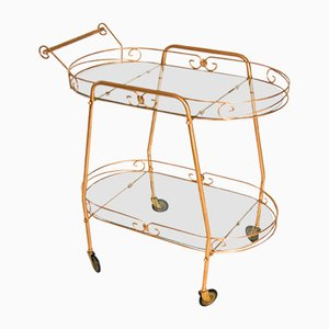 Mid.Century Hollywood Regency Bar Cart or Tea Trolley, 1950s
