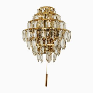Gilded Wall Light from Bakalowits & Söhne, 1960s