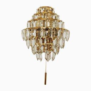 Vergoldete Wandlampe von Bakalowits & Söhne, 1960er
