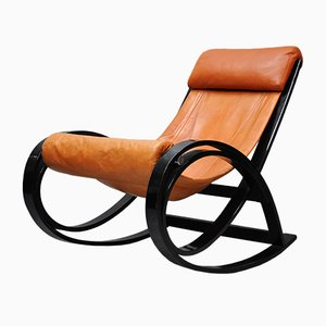 Model Sgarsoul Rocking Chair by Gae Aulenti for Poltronova, 1970s