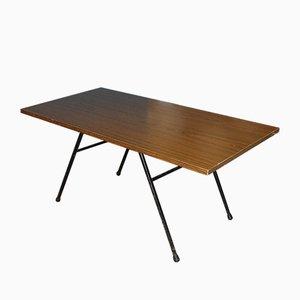 Mid-Century Filigree Metal Frame Coffee Table