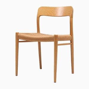 Moderne Skandinavische No. 75 Esszimmerstühle aus Eiche von Niels Otto Møller für JL Møllers, 1970er, 6er Set