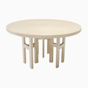 Round Resin Dining Table by Jean Claude Dresse , 1970s