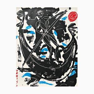 Grande Sérigraphie Colorée par Luciano Castelli, 1984