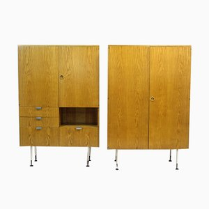Mid-Century Ash Wardrobes from Jitona, 1960s, Set of 2