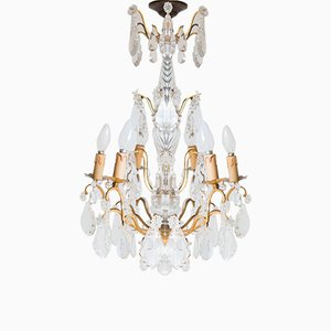 Vintage French 6-Arm Chandelier
