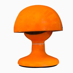 Italian Orange Metal Jucker Table Lamp by Tobia & Afra Scarpa for Flos, 1963