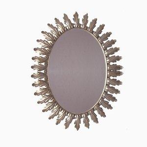 Mid-Century Belgian Sunburst Mirror from Deknudt, 1950s