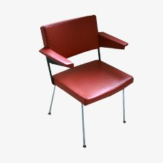 1265 Red Fauteuil by André Cordemeijer for Gispen, 1963