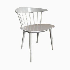 Mid-Century Danish Modern White Dining Chair by Ejvind Johansson for FDB, 1950s