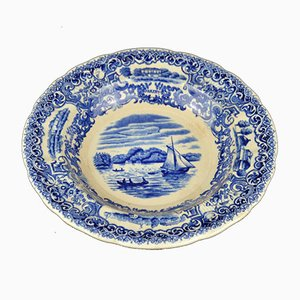 Vintage Blue and White Porcelain Decorative Plate from Rörstrand, 1900s