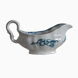 Antique Gravy Sauce Boat with Flowers from Götheborg