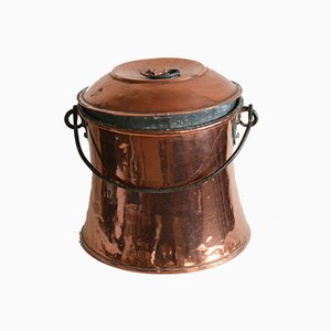 Large 19th Century Swedish Copper and Brass Water Boiler