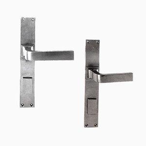 Maniglie da porta antiche di Otto Wagner, Austria, set di 2